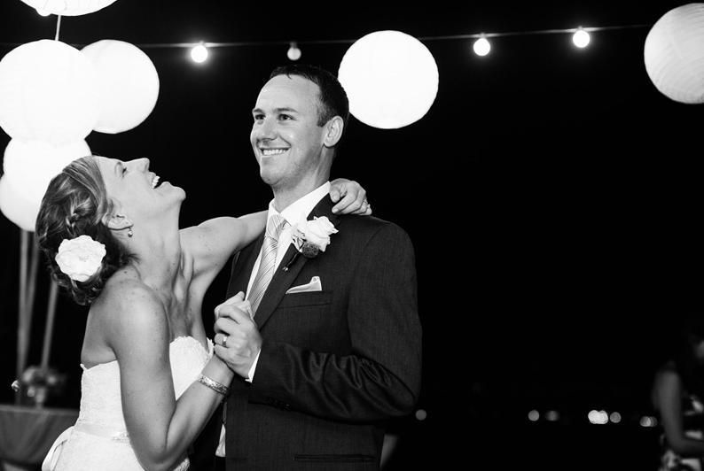 Happy Couple Dancing the night away